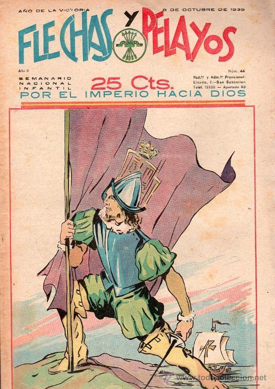 FLECHAS Y PELAYOS - AÑO II, NUMERO 44. NUEVO SIN LEER (Tebeos y Comics - Tebeos Clásicos (Hasta 1.939))