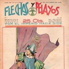 Tebeos: FLECHAS Y PELAYOS - AÑO II, NUMERO 44. NUEVO SIN LEER. Lote 27325169