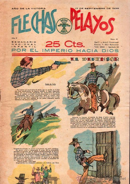 FLECHAS Y PELAYOS - AÑO II, NUMERO 41. NUEVO SIN LEER (Tebeos y Comics - Tebeos Clásicos (Hasta 1.939))
