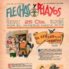 Tebeos: FLECHAS Y PELAYOS - AÑO II, NUMERO 38. NUEVO SIN LEER. Lote 27325199