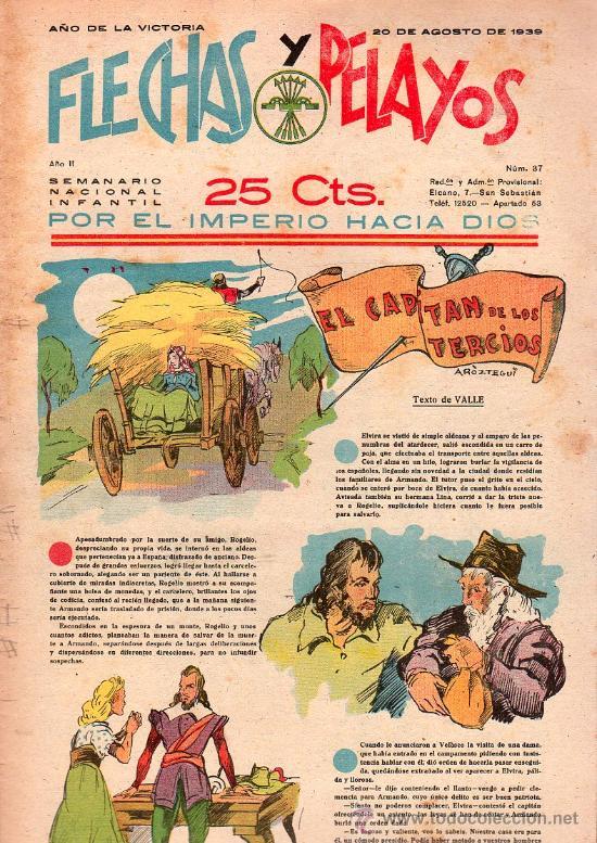 FLECHAS Y PELAYOS - AÑO II, NUMERO 37. NUEVO SIN LEER (Tebeos y Comics - Tebeos Clásicos (Hasta 1.939))