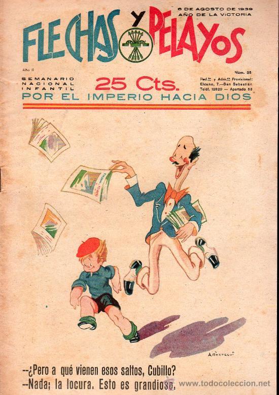FLECHAS Y PELAYOS - AÑO II, NUMERO 35. NUEVO SIN LEER (Tebeos y Comics - Tebeos Clásicos (Hasta 1.939))