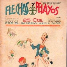 Tebeos: FLECHAS Y PELAYOS - AÑO II, NUMERO 35. NUEVO SIN LEER. Lote 27325241