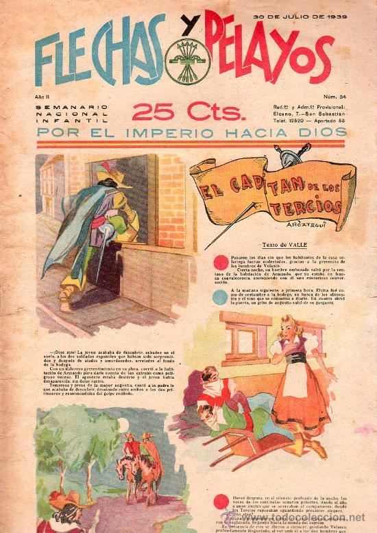 FLECHAS Y PELAYOS - AÑO II, NUMERO 34. NUEVO SIN LEER (Tebeos y Comics - Tebeos Clásicos (Hasta 1.939))