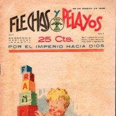 Tebeos: FLECHAS Y PELAYOS - AÑO II, NUMERO 8. NUEVO SIN LEER. Lote 27325320