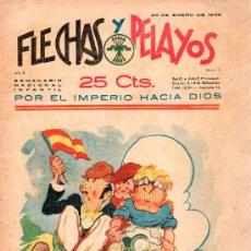Tebeos: FLECHAS Y PELAYOS - AÑO II, NUMERO 7. NUEVO SIN LEER. Lote 27325332