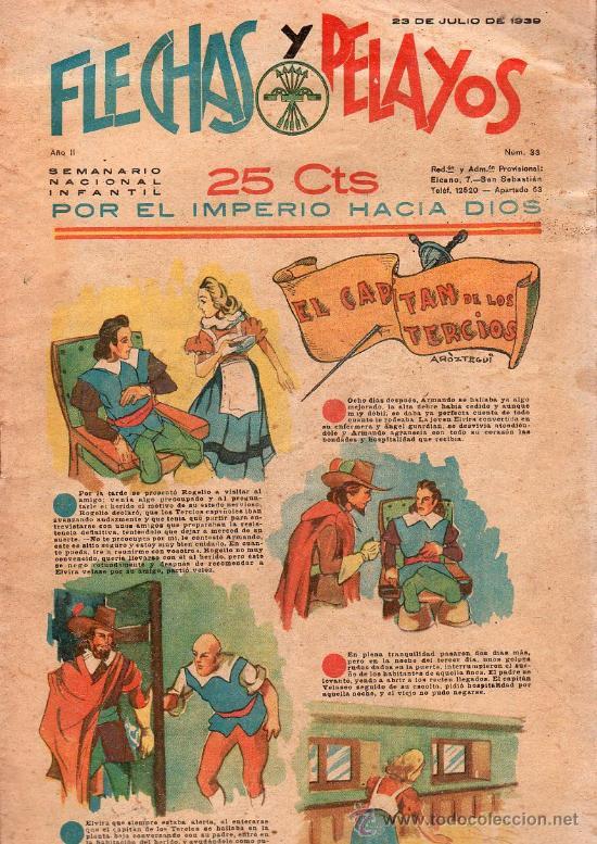 FLECHAS Y PELAYOS - AÑO II, NUMERO 33. NUEVO SIN LEER (Tebeos y Comics - Tebeos Clásicos (Hasta 1.939))