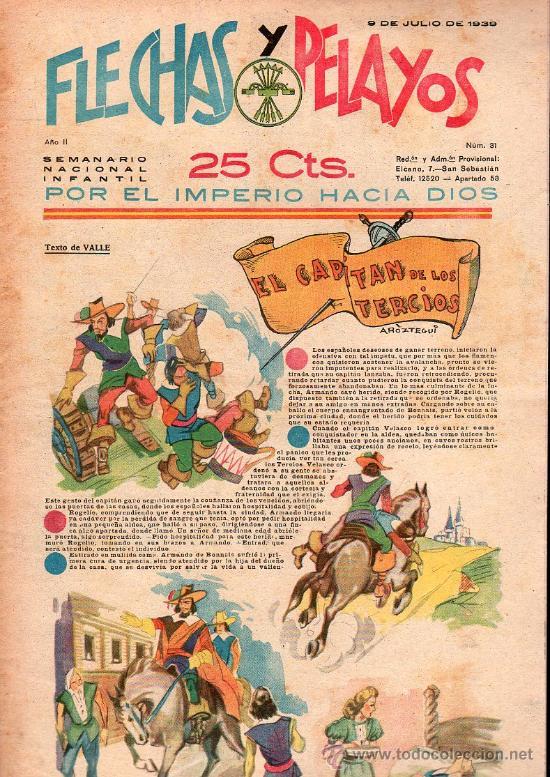 FLECHAS Y PELAYOS - AÑO II, NUMERO 31. NUEVO SIN LEER (Tebeos y Comics - Tebeos Clásicos (Hasta 1.939))