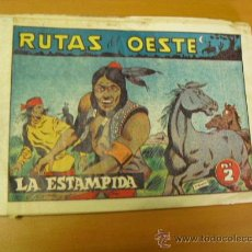 Tebeos: RUTAS DEL OESTE Nº 2, EDICIONES SORIANO 1958,LOMO CON FISO. Lote 27328651