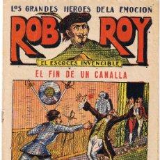 Tebeos: ROB ROY - EL ESCOCÉS INVENCIBLE - Nº 17 - EL FIN DE UN CANALLA - EDIT. EL GATO NEGRO . Lote 29358060