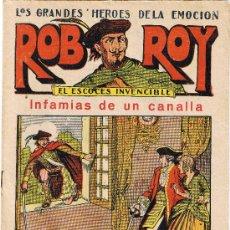Tebeos: ROB ROY - EL ESCOCÉS INVENCIBLE - Nº 10 - INFAMIAS DE UN CANALLA - EDIT. EL GATO NEGRO . Lote 29361076