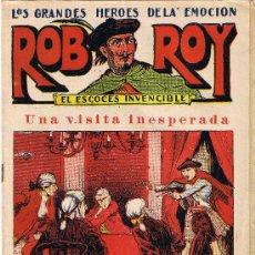 Tebeos: ROB ROY - EL ESCOCÉS INVENCIBLE - Nº 8 - UNA VISITA INESPERADA - EDIT. EL GATO NEGRO . Lote 29361096