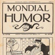 Tebeos: MUNDIAL HUMOR, 1912. LOTE DE 18 EJEMPLARES. JUNCEDA . Lote 28374344