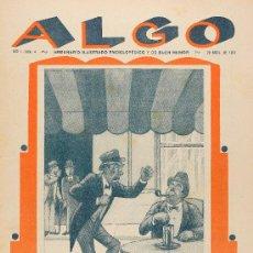 Tebeos: ALGO, SEMANARIO ILUSTRADO. 27 EJEMPLARES 1929. Lote 28385132
