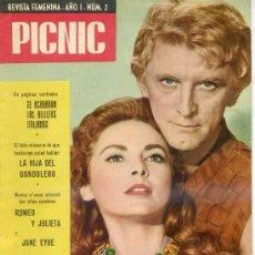 Livros de Banda Desenhada: PICNIC Nº 2 (1958) KIRK DOUGLAS - JANET LEIGH. Lote 29531629