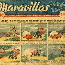 Tebeos: MARAVILLAS Nº46 (BIBLIOTECA DE FLECHAS Y PELAYOS) ORIGINAL 1940. Lote 30292864