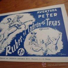 Tebeos: AVENTURA DE PETER Nª 1/2 COMPLETA 1ª Y 2ª JORNADA EDITORIAL REUS 1947 ORIGINAL. Lote 30897507