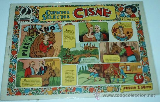 CISNE - CUENTOS SELECTOS, Nº 14- ORIGINAL -CLIPER 1955-IMPORTANTE LEER TODO (Tebeos y Comics - Tebeos Otras Editoriales Clásicas)