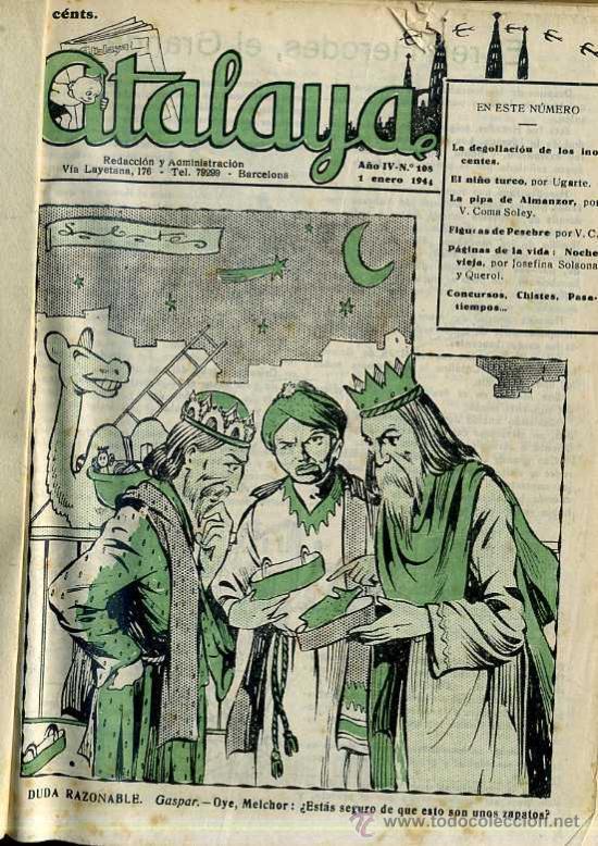 ATALAYA SEMANARIO DE HUMOR - NÚMEROS 108 A 212 (1944/1945) DOS AÑOS COMPLETOS (Tebeos y Comics - Tebeos Otras Editoriales Clásicas)