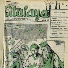 Tebeos: ATALAYA SEMANARIO DE HUMOR - NÚMEROS 108 A 212 (1944/1945) DOS AÑOS COMPLETOS. Lote 31634241