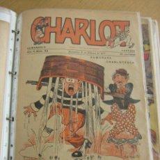 Tebeos: M. NAVARRETE,- CHARLOT LOTE DESDE EL Nº 25 DEL AÑO 1916 AL 1921, SON 46 Nº, LISTA INTERIOR. Lote 31867019