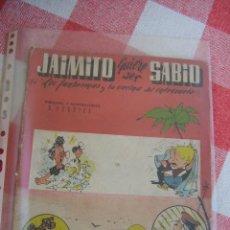Tebeos: R. SABATÉS JAIMITO QUIERE SER SABIO Nº 3 Y ULTIMO CONOCIDO. Lote 32107909