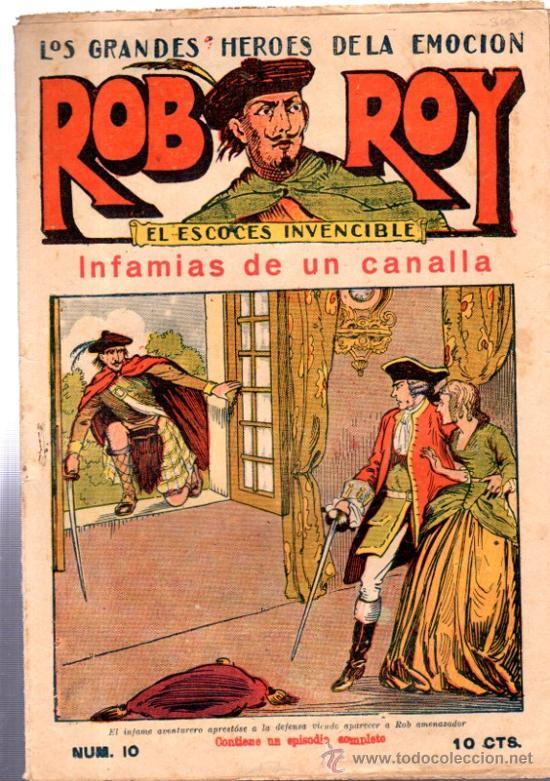 ROB ROY, EL ESCOCES INVENCIBLE, INFAMIA DE UN CANALLA, Nº10, EDITORIAL EL GATO NEGRO BARCELONA (Tebeos y Comics - Tebeos Clásicos (Hasta 1.939))