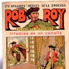 Tebeos: ROB ROY, EL ESCOCES INVENCIBLE, INFAMIA DE UN CANALLA, Nº10, EDITORIAL EL GATO NEGRO BARCELONA. Lote 32173121
