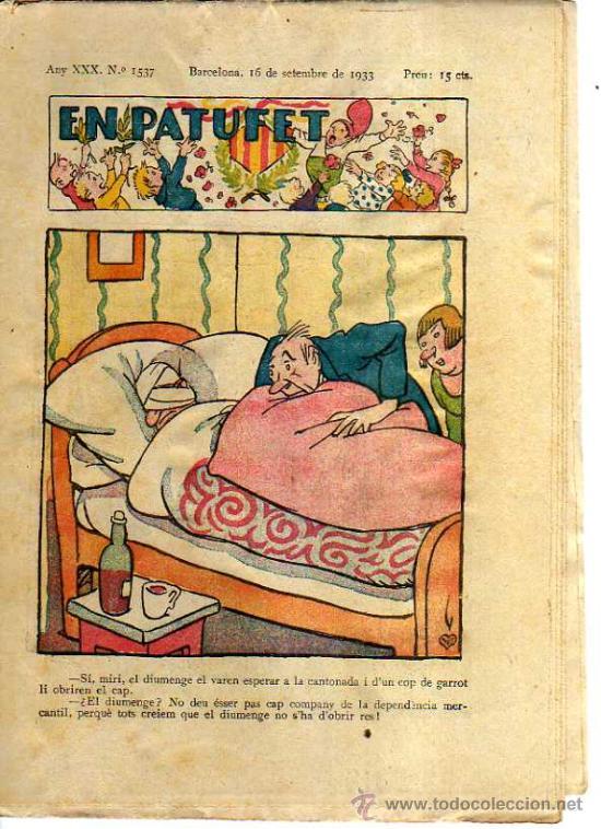 EN PATUFET. Nº 1537. 1933. (Tebeos y Comics - Tebeos Clásicos (Hasta 1.939))