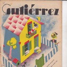Tebeos: COMIC SEMANARIO GUTIERREZ Nº 12. Lote 33077458
