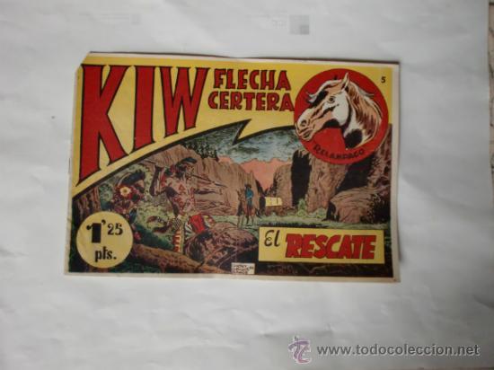 KIW FLECHA CERTERA Nº 5 IMPECABLE APARTE DEL PICO CORTADO ORIGINAL EDITORIAL SIMBOLO (Tebeos y Comics - Tebeos Otras Editoriales Clásicas)