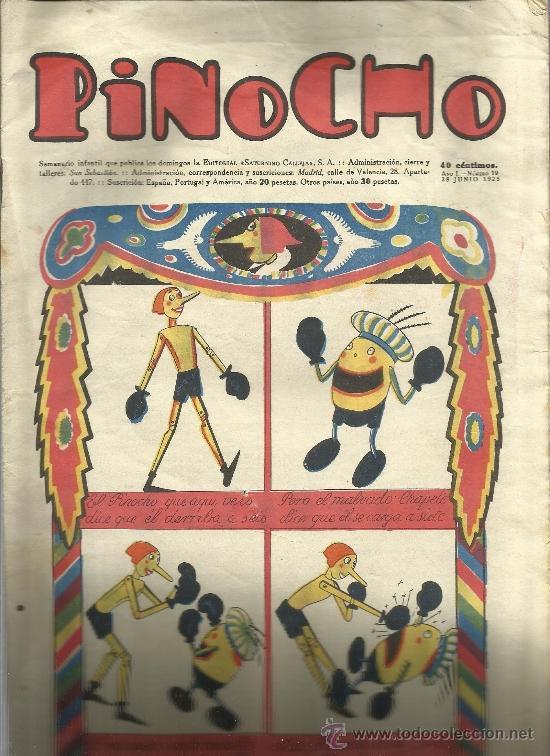 PINOCHO DE CALLEJA Nº 19 (Tebeos y Comics - Tebeos Clásicos (Hasta 1.939))