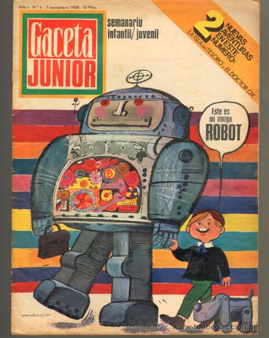 TEBEOS-COMICS GOYO - GACETA JUNIOR - Nº 4 - 1ª EDICION - ED. UNIVERSO *AA99 (Tebeos y Comics - Tebeos Otras Editoriales Clásicas)