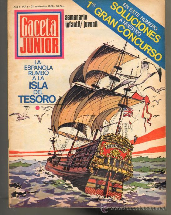 TEBEOS-COMICS GOYO - GACETA JUNIOR - Nº 6 - 1ª EDICION - ED. UNIVERSO *AA99 (Tebeos y Comics - Tebeos Otras Editoriales Clásicas)