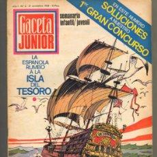 Tebeos: TEBEOS-COMICS GOYO - GACETA JUNIOR - Nº 6 - 1ª EDICION - ED. UNIVERSO *AA99. Lote 34946384