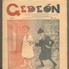Tebeos: TEBEOS-COMICS GOYO - GEDEON 505 - 1905 - PERIODICO SATIRICO MAS 100 AÑOS - INCREIBLE ESTADO *BB99. Lote 34952585