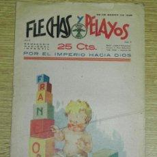 Tebeos: FLECHAS Y PELAYOS ( SEMANARIO NACIONAL INFANTIL ) AÑO 1939 - Nº 8 - PORTADA POR AROZTEGUI, HISTORIA . Lote 35225508
