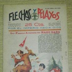 Tebeos: FLECHAS Y PELAYOS ( SEMANARIO NACIONAL INFANTIL ) AÑO 1939 - Nº 19 , CON RECORTABLE DE PESCA MILAGRO. Lote 35225756