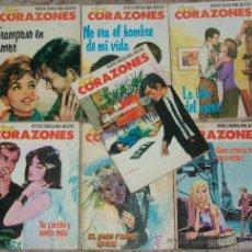 Tebeos: DOS CORAZONES (P.EDITORIALES) (LOTE DE 7 NUMEROS). Lote 35301779