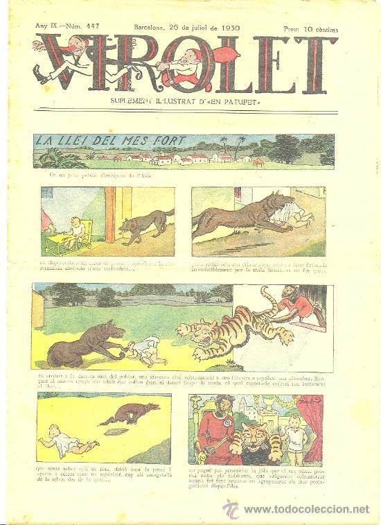 VIROLET Nº 447 (26-07-1930) (CATALÁN) (Tebeos y Comics - Tebeos Clásicos (Hasta 1.939))