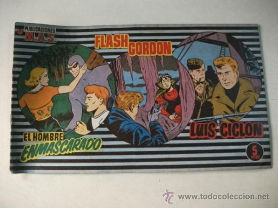 PUBLICACIONES MAS Nº 7 - FLASH GORDON – LUIS CICLÓN – EL HOMBRE ENMASCARADO (Tebeos y Comics - Tebeos Otras Editoriales Clásicas)