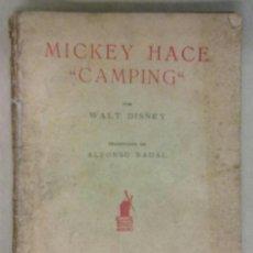 Tebeos: MICKEY HACE CAMPING. WALT DISNEY EDITORIAL MOLINO PUBLICADO EN 1937. Lote 36767162