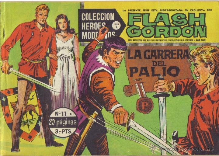 FLASH GORDON Nº 11. LA CARRERA DEL PALIO. COLECCION HEROES MODERNOS, SERIE B. LITERACOMIC. (Tebeos y Comics - Tebeos Otras Editoriales Clásicas)