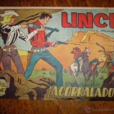 Tebeos: LINCE Nº 16 - ACORRALADOS COLECCIÓN CABALGADA. EDICIONES GEMEX. AÑO 1962. . Lote 40153563
