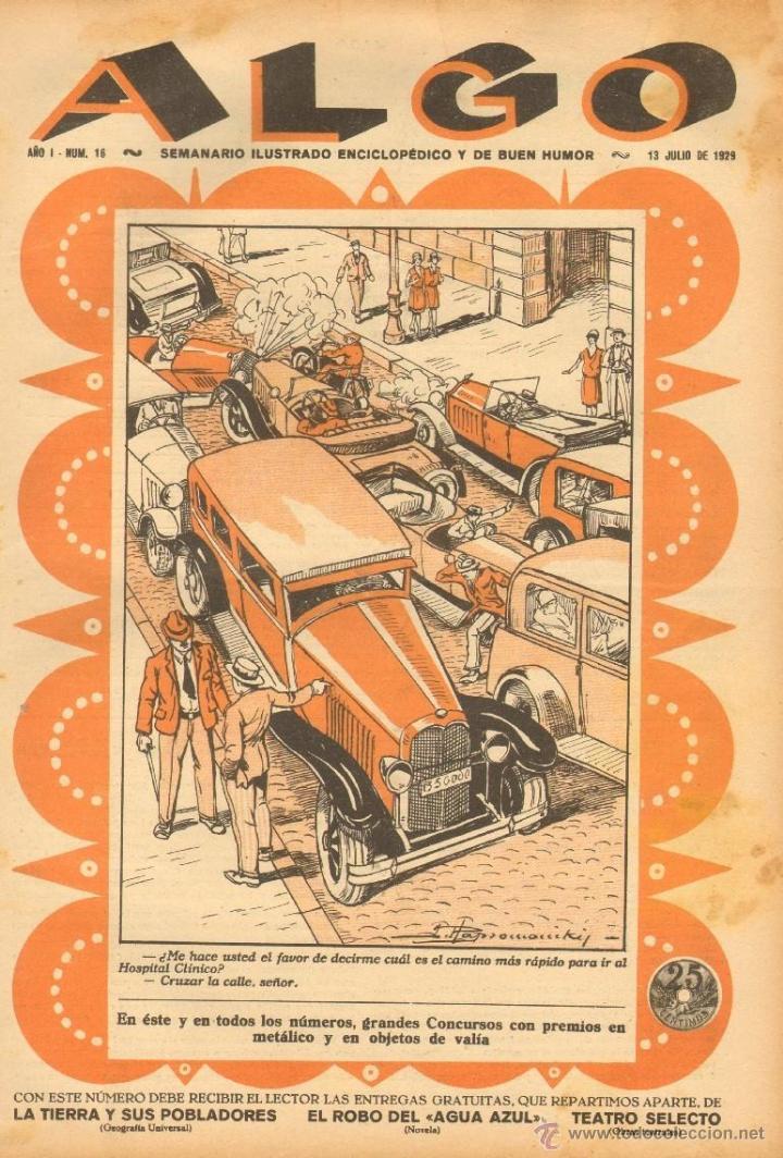 TEBEOS-COMICS GOYO - ALGO SEMANARIO ILUSTRADO- AÑO 1929 - Nº 16 - RARO - *BB99 (Tebeos y Comics - Tebeos Clásicos (Hasta 1.939))