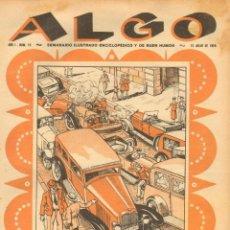 Tebeos: TEBEOS-COMICS GOYO - ALGO SEMANARIO ILUSTRADO- AÑO 1929 - Nº 16 - RARO - *BB99. Lote 40485893