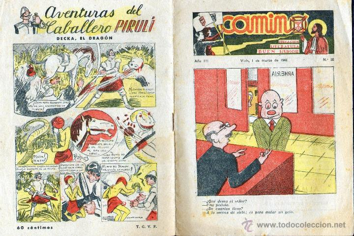 TEBEOS-COMICS GOYO - CAMINO -FORMACION, LITERATURA, BUEN HUMOR - Nº 35 - 1948 RARO *AA99 (Tebeos y Comics - Tebeos Otras Editoriales Clásicas)