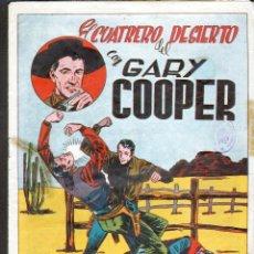 Tebeos: TEBEOS-COMICS GOYO - GARY COOPER *- Nº 6 - ED. JOVI - 1950 - 1ª EDICION - MUY DIFICIL *XX99. Lote 40829339