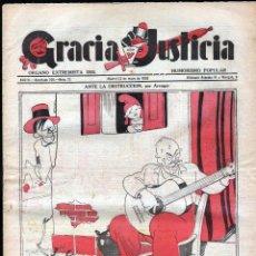 Tebeos: TEBEOS-COMICS GOYO - GRACIA Y JUSTICIA 73 - ORGANO EXTREMISTA DEL HUMORISMO POPULAR - 1933 *BB99. Lote 40841831