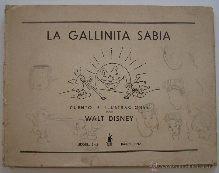 Tebeos: 1935 * PRIMER dibujo animado en que apareció el PATO DONALD * Edicion española * La Gallinita Sabia - Foto 2 - 40955068